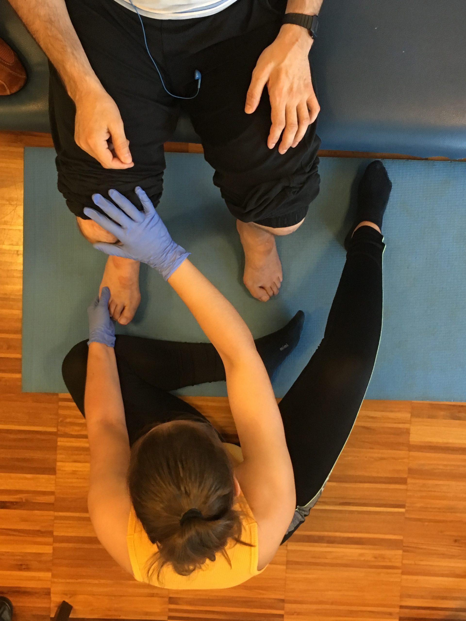 Sesión de fisioterapia en Alento. Foto Cedida.